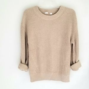 Gap tan cotton ribbed sweater oversized  S
